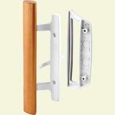 Prime-Line Sliding Glass Door Handle Set, 3-15/16 in., Diecast, White, Mortise/Hook Style-C 1204 - The Home Depot Best Sliding Glass Doors, Sliding Door Handles, Barn Door Handles, Door Pull Handles, Sliding Patio Doors, Wooden Handles, Screen Door Hardware, Screen Door Latch, Screen Doors