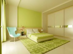 Green and White Bedroom Ideas