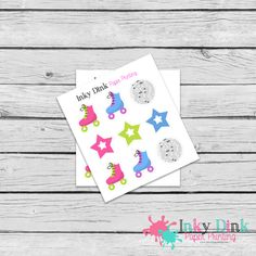 New to InkyDinkPrinting on Etsy: 9 Disco Roller Skating Sample Sheet Planner Stickers Erin Condren Happy Planner Plum Planner Sticker Sampler EC Life Planner SP-51 (1.50 USD)