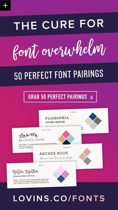50 perfect font pairings for the best branding and web or graphic design. Typography Fonts, Typography Design, Hand Lettering, Branding Design, Cursive Fonts, Creative Lettering, Penmanship, Creative Writing, Blog Design