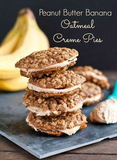 Peanut Butter Banana Oatmeal Creme Pies | Neighborfood for Melanie Makes