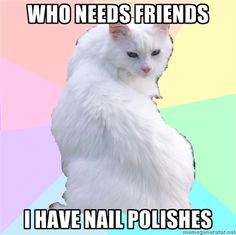 I do have much more nail polish than I do friends.... ;)