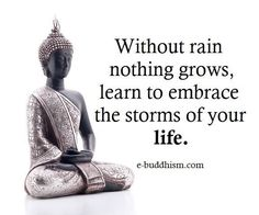 without rain nothing grows.