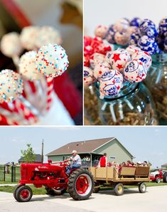 How much fun would this be for an tractor-obsessed little boy? Vintage tractor rides!