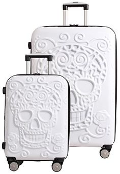 Luggage Sets Collections   IT Luggage Skulls 2 Piece Spinner Set 21  30  White -- Find out more about the great product at the image link. Note:It is Affiliate Link to Amazon.