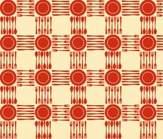 Super cute picnic fabric by weavingmajor on Spoonflower