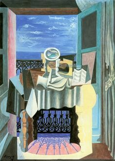"Pablo Picasso, 1919. ""Naturaleza muerta en la ventana""."
