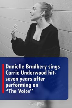 """Seven years after she performed it on """"The Voice,"""" Danielle Bradbery sings her rendition of """"Jesus Take the Wheel"""" in a stairwell. Her pitch is excellent, and the echo makes her voice reverberate. She obviously enjoys singing Underwood's hit song. #DanielleBradbery #CarrieUnderwood #Music #singing #TheVoice"""