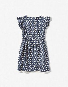 BIRD PRINT DRESS (Zara)  Picture this dress on a sunny day with your bright red GESTIPT.com mary janes!
