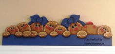 Handpainted Gingerbread Door Crown, wooden gingerbread man, gingerbread kitchen, decoration, country painting