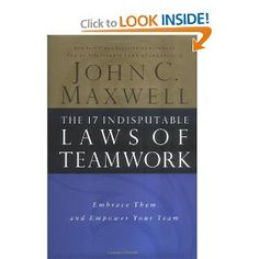 Before knowing how to lead, you must know how to be a team mate. Required Reading from John C. Maxwell. Teamwork makes the dream work!  ;-)