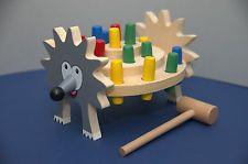Legler Wooden Toys Hammer Bench Hedgehog. Ideal For Pre-School - BNIB