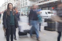 walking past / slow shutter speed / movement / people / strangers / blurred / ghost