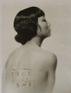 The actress Anna May Wong inscribed to Franz Lederer