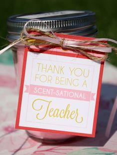 Teacher Candle Gift Tags, Teacher Gift Tags, Teacher Appreciation, Teacher Christmas Tag, Teacher Pr