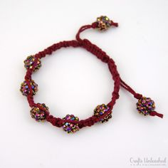 Have you seen the Shamballa-style bracelets and thought about making your own? With basic macrame techniques, a bit of cord and beautiful beads, you can!