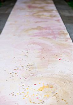 painted aisle runner from southern weddings magazine