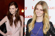 diversi colori dei capelli lisci da Lydia Hearst
