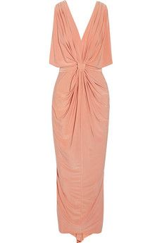 T-Bags Draped stretch-jersey maxi dress | THE OUTNET