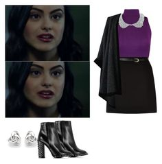 Veronica Lodge - Riverdale by shadyannon on Polyvore featuring polyvore Mode style WearAll Yves Saint Laurent New Look Philipp Plein Georgini fashion clothing