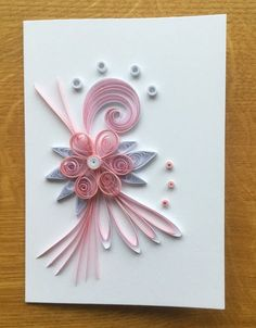 Pin by Nath Note on Paper Quilling Quilling Birthday Cards, Paper Quilling Cards, Paper Quilling Flowers, Paper Quilling Patterns, Origami And Quilling, Quilled Paper Art, Quilled Roses, Neli Quilling, Quilling Paper Craft