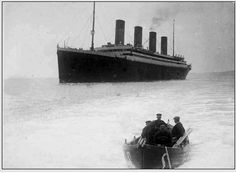 Father Browne's last view of the Titanic as she sailed from Queenstown. I suggest taking a look at all his photographs of the Titanic and her passengers. Titanic Ship, Rms Titanic, Titanic Deaths, Titanic History, History Of Photography, Steamers, Small Boats, Olympics, Sailing