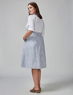 Striped Circle Skirt | Lane Bryant