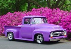 Delightfully purple Ford truck completely refurbished @Megan Keifman it's purple. Do you want this instead of a jeep?