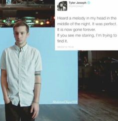 Lol<< honey it's happened to me so many times. it is the worst thing<<happens to me during school and i start freaking out cuz i dont wanna get in trouble so i keep repeating it to myself. schools not important anyways Twenty One Pilots, Twenty One Pilot Memes, Tyler And Josh, Tyler Joseph, Screamo, Top Memes, Band Memes, Staying Alive, My Chemical Romance