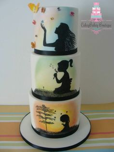 ~ CREATIVE CAKES ~ Age progression silhouetted cake design