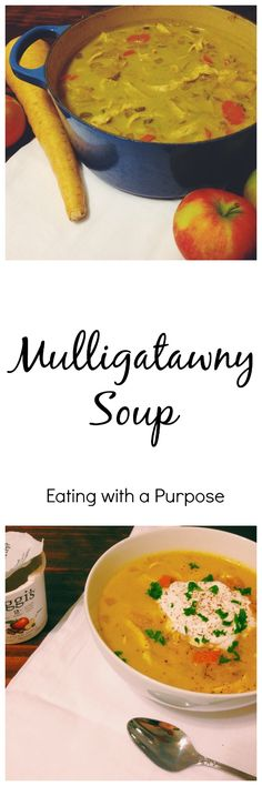 Use leftover turkey with this Mulligatawny Soup recipe by Eating with a Purpose Mulligatawny, Easy Soup Recipes, Healthy Recipes, Vegetarian Soup, Leftover Turkey, One Pot Meals, Ground Beef, Stew, Slow Cooker