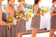 Modern Yellow + Gray Wedding in San Clemente, CA | Images by CHARD photographer
