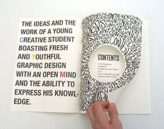 2nd year '1 week briefs' book by Sam Sharples, via Behance