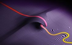 Download wallpapers lines, 3d waves, creative, purple background, art