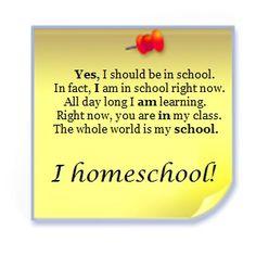 Sí, debería estar en la escuela, de hecho, estoy en la escuela en este momento. todo el día estoy aprendiendo. En este momento, usted está en mi clase. El mundo entero es mi escuela. #Homeschool #EscuelaEnCasa