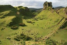 """Fairy Glen. Isle of Skye, Scotland. This is a truly magical place. Not easy to find but as our host explained: """"you will know you're in the right place when you get there"""". You really do know. It's amazing. Panorama assembled from sequence shots taken September 2015 by yours truly."""