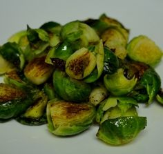 This is a simple Brussels Sprouts dish that is great as a side to any steak, chicken, pork or just on their own!