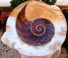 Vintage anni ' 90 oro  marrone vetro fuso a di JoannasScentedSoaps