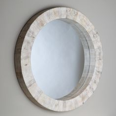 "Driftwood Round Mirror / 37"" Dia. - DESIGN & BOARD, INC."