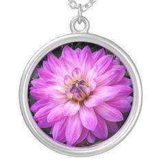 #Violet #Purple #Dahlia Pendants...#necklaces #jewelry #roses #flowers #floral #colorful #RoseSantuciSofranko #Artist4God #RosesRoses #Zazzle #accessories #customizable  #blooms #blossoms #buds #nature #petals #photography #forsale #pendants