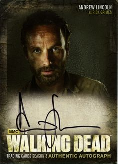 The Walking Dead Trading Cards Season 3 Part 1 Walking Dead Pictures, Walking Dead Tv Show, Walking Dead Season, Fear The Walking Dead, Z Nation, Dead Inside, Andrew Lincoln, Rick Grimes, British Actors