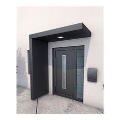 Gutta BS 200 Rechteckvordach mit Seitenteil online kaufen bei Netto - New Ideas Model House Plan, Dream House Plans, House Entrance, Entrance Doors, Front Door Canopy, Door Overhang, Front Door Design, Marquise, Facade House
