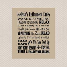 El regalo perfecto del cartel para el jubilado. El arte de metro se puede personalizar con el nombre de jubilado Enviar esa persona especial con