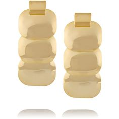 Kenneth Jay Lane Gold-plated earrings ($30) ❤ liked on Polyvore featuring jewelry, earrings and metallic