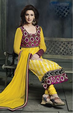 Aesthetic yellow #salwarkameez online @ #craftshopsindia