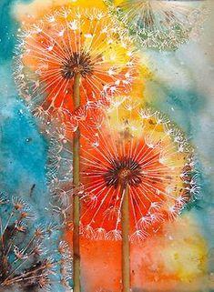 Alpenstrasse | Paint acrylic | Pinterest | Dandelions, Watercolors and Dandelion Art