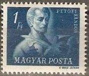 Znaczek: Sándor Petőfi (1823-1849) poet (Węgry) (Hungarian Freedom Fighters) Mi:HU 978,Sn:HU 823,Yt:HU 865