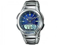 Relógio Masculino Casio Anadigi - Resistente à Água Cronômetro Mundial AQ-180WD-2AV