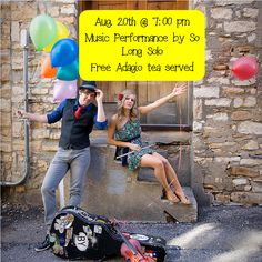 TH, Aug. 20, 2015 at 7:00 pm Folk/pop indie due So Long Solo will do a concert at the library.  They are currently touring for their debut album.  Adagio Tea will be served for free at this show.