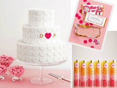 """How """"sweet"""" is this candy-theme bridal shower? Love all the great ideas that can be easily applied to a baby shower or birthday party... like the french fries in glassine bags, or theLemon Drop cocktails punched up with swizzle sticks, or the crowd-pleasing mini milkshakes served in double shot glasses and garnished with chocolate chip cookies!!! The candy bar was done using acrylic rectangles containers for the perimeter and the letters where custom made {I Love Lucite (310-966-0740)}. Keep in mind that you should calculate 1/4 pound of candy per person when preparing a candy bar. Great candy sources are Candy.com, RockCandy.com and CandyWarehouse.com. Friends were asked to write """"sweet wishes"""" using candy-shaped note cards!"""